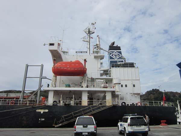 El trabajo de los detectives en el puerto