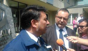Subprefecto Claudio Villalobos junto al fiscal Daniel Alvarado